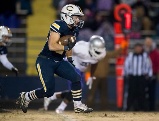 Connor McIntire scored Castle's lone touchdown in a 32-6 loss to Bloomington South on Friday night in the Class 5A Sectional 15 final at John Lidy Field.