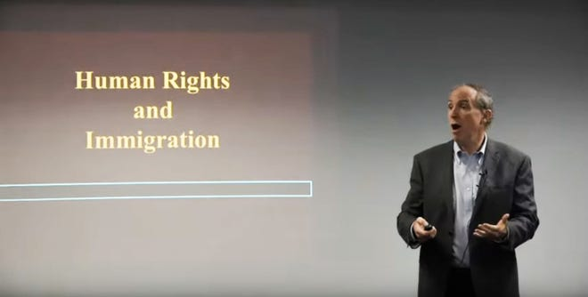 "Terry Coonan presents ""Human Rights Concerns with Contemporary Immigration Policies."""