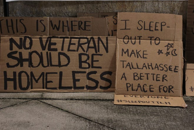 At Sleep Out Tallahassee, citizens slept outside at Cascades Park to experience what the homeless population goes through daily.