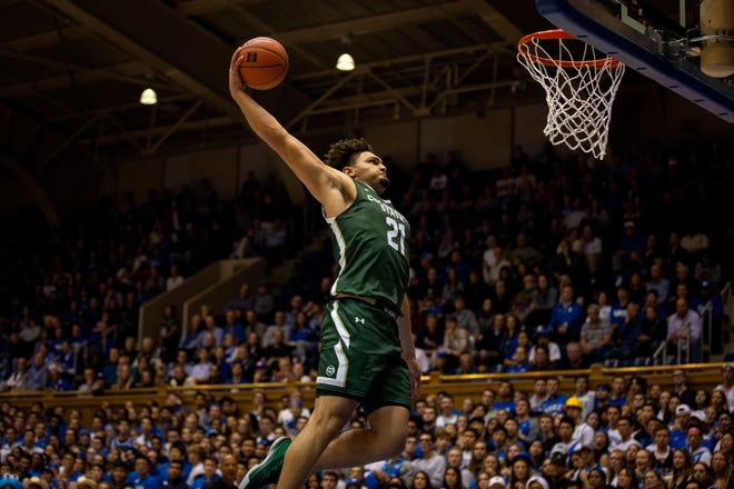 CSU's David Roddy dunks in a game at Duke last season. Roddy has been one of the best players in the Mountain West early this season.