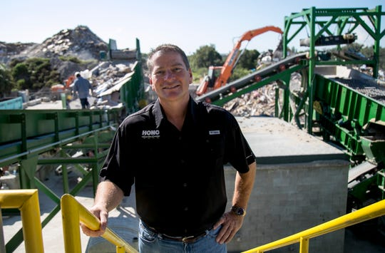 David Mulicka is president of Honc Destruction and HONC Recycling. At the recycling facility, they are able to recycle about 85 percent of the demolition debris that is brought in.