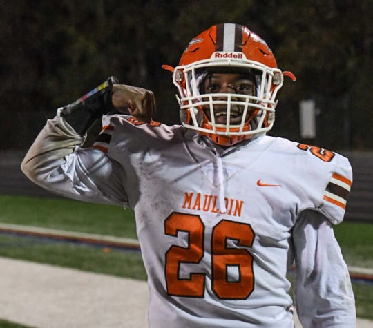 Jordon Franklin (26) and his Mauldin teammates travel to Clover on Friday for a Class AAAAA Upper State second-round playoff football game.