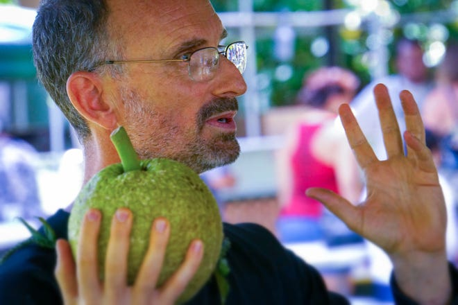 Craig Elevitch conducts a training on breadfruit. He and a team of educators will be conducting a workshop in Guam on designing and maintaining a productive and resilient food forest.