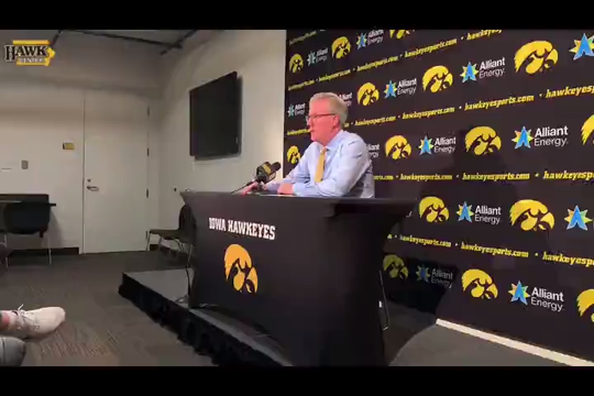 Fran McCaffery talks about Luka Garza's growth after his double-double on opening night.