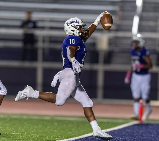 FILE – Alijawon Hassel scored three times in Ben Davis' dominating win over Southport.