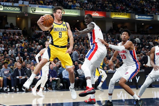 Pacers guard T.J. McConnell (9) has provided a steady hand off the bench early in the season.