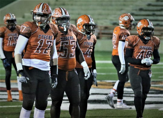 The Mansfield Senior Tygers defensive line as been the backbone of the team all season and will be ready to answer the call on Friday in the Division III state championship game.