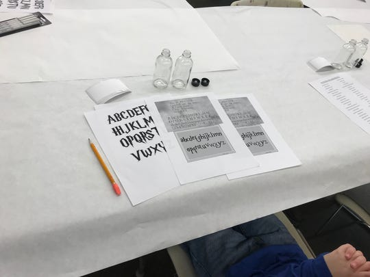 The Harry Potter themed class Saturday morning at the Mansfield Art Center included potions and letters in the style of the Hollywood film.