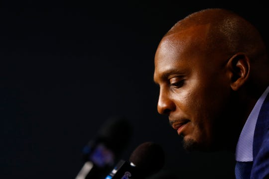 Memphis Head Coach Penny Hardaway talks to the media after their 92-46 win over the UIC Flames, a fact that was overshadowed by the news that Freshman phenom and top rated player James Wiseman had been declared ineligible by the NCAA.