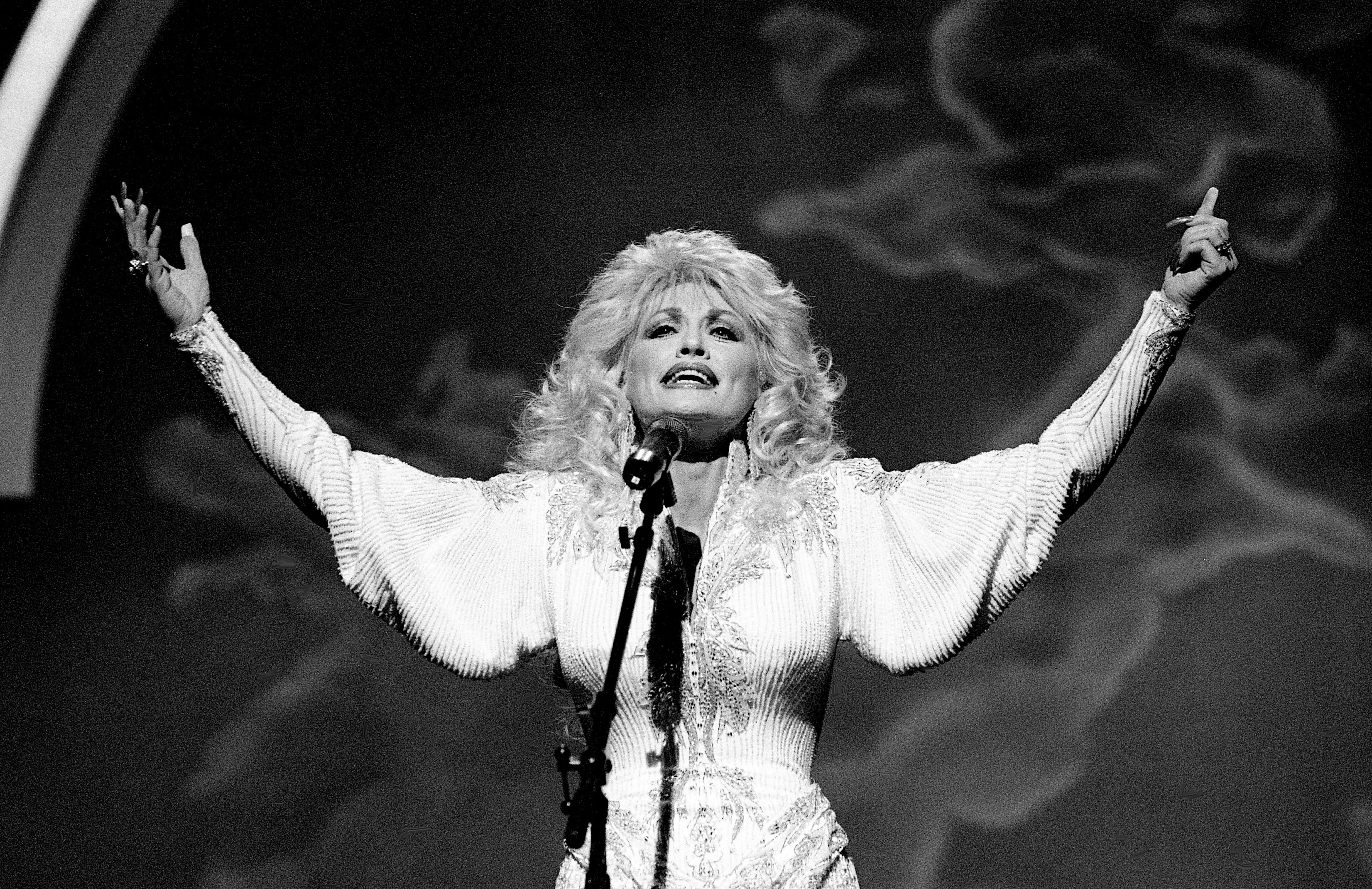 """Dolly Parton grew up with music. """"My mother's people were musical, mostly gospel, but my mother and all of her people play some musical instruments, and some of my daddy's people."""""""