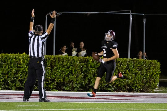 First Baptist football team hosts Moore Haven during a Class 2A-Region 4 football playoff game on Friday, November 8, 2019, at First Baptist Academy.
