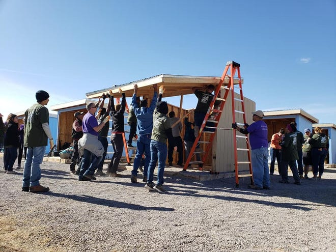 On Saturday, Nov. 2, The Home Depot Foundation partnered with the Mesilla Valley Community of Hope (MVCH) to provide outdoor shelters for homeless veterans in the Las Cruces area.