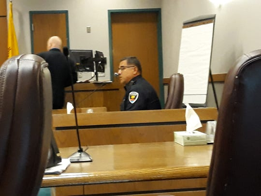 Las Cruces Police Department Sgt. Frank Torres testifies in a pre-trial detention hearing for David Joseph Padilla in Third Judicial Court on Friday, Nov. 8, 2019.