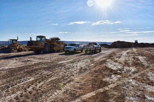 Crews have been working to extend the end of a runway at the Four Corners Regional Airport in Farmington.