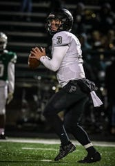 Plymouth senior quarterback Nicholas Downs completed eight of 16 passes.