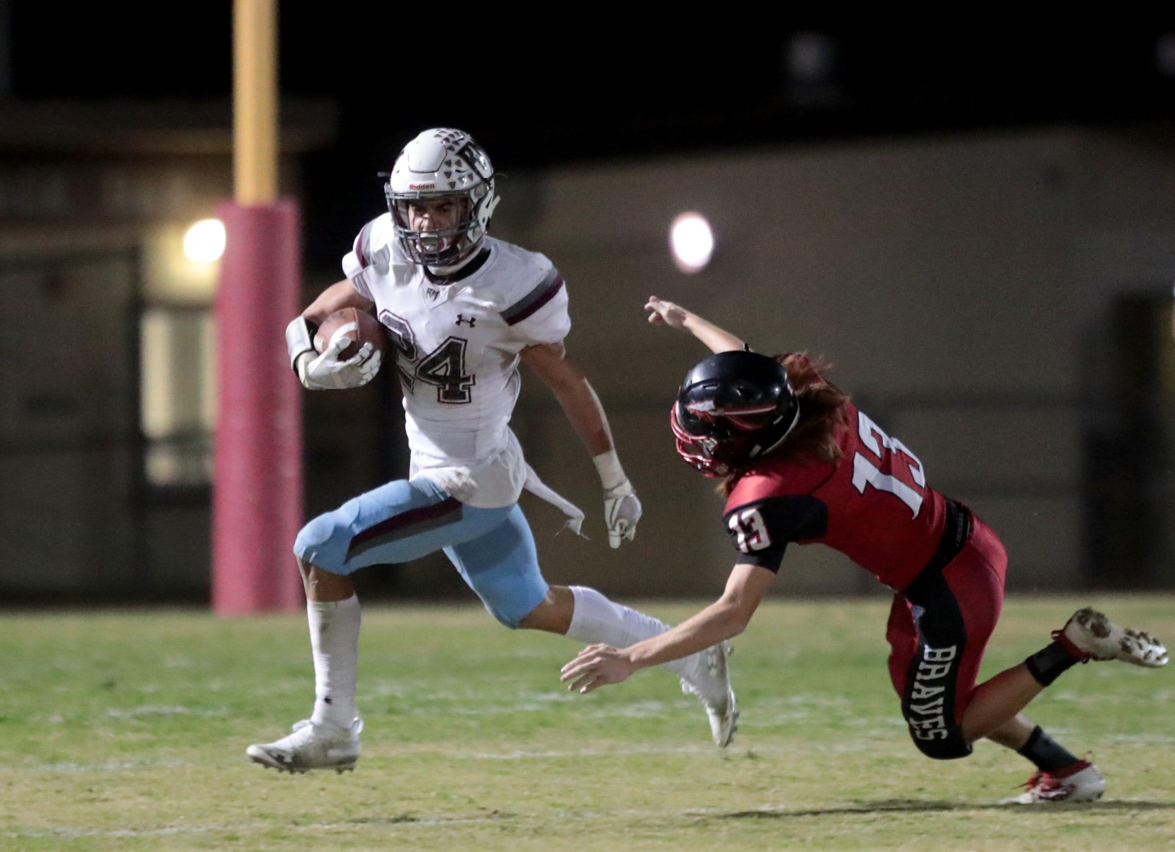 Rancho Mirage defensive back Tyler Hernandez