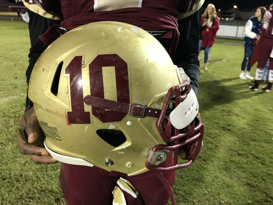 Northview's football helmets honor the legacy of Dariontae Richardson, a Chiefs player who passed away in February.