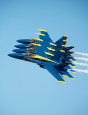 The Blue Angels were due at the May air show at Dyess Air Force Base.