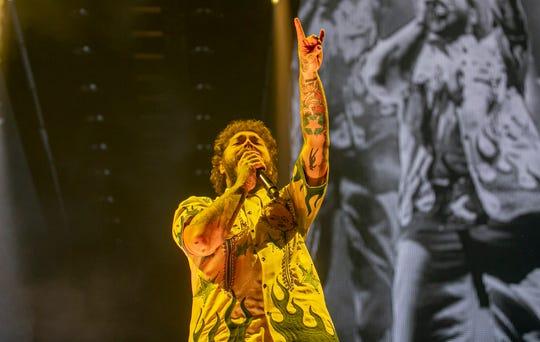 Post Malone performs at Gila River Arena in Glendale on Nov 8, 2019.