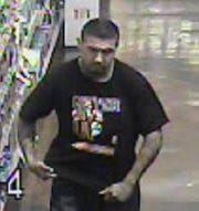 Man suspected of pointing gun, stealing diapers.