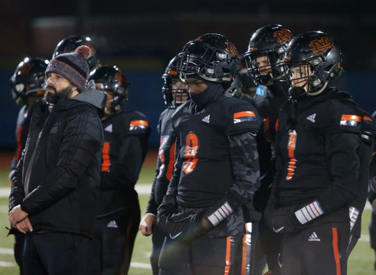 The Marlboro football team looks on during the fourth quarter as Port Jervis rallies for a late touchdown to win the Section 9 Class B final on Friday.