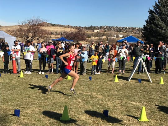 Reno junior Penny Smerdon won the girls state cross country race on Saturday.