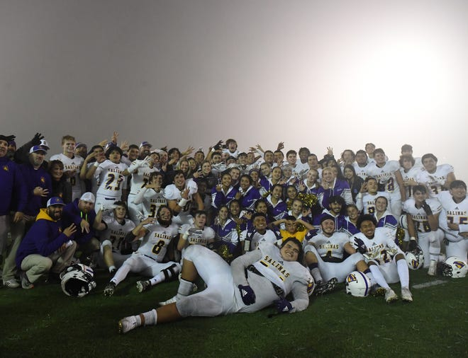 The Salinas Cowboys earned their third consecutive PCAL — Gabilan title with the win over Aptos Friday night on the road.