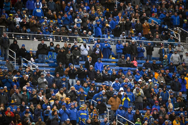 SDSU fans watch as their team plays Illinois State on Saturday, Nov. 9, 2019 at Dana J. Dykhouse Stadium.