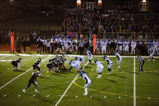 The Canton C-Hawks play against the Tea Area Titans in the state class A semifinals on Friday, Nov. 8, in Tea.
