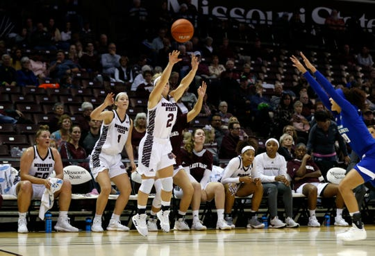 The Missouri State Lady Bears take on the Texas A&M Corpus-Christi Islanders at JQH Arena in Springfield, Mo. on Friday, Nov. 8, 2019.