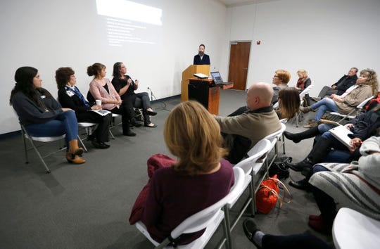 Community Partnership's Ozarks Alliance to End Homelessness held a panel discussion about 'Dispelling Myths About Homelessness' at the Springfield Art Museum on Thursday, Nov. 7, 2019.