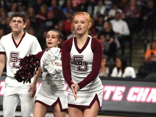 Stuarts Draft's Zoe Mader, right, is just a freshman. She was thrilled to experience a state title for the first time Saturday.