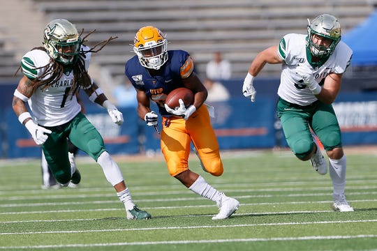 UTEP's Jacob Cowing during the game against Charlotte Saturday, Nov. 9, at the Sun Bowl in El Paso.