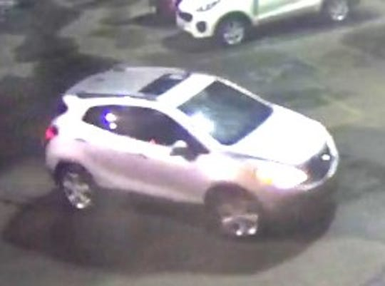 A surveillance camera image shows the vehicle authorities say was used in the Oct. 9, 2019, burglary at an East Side Ace Hardware Story at 2200 N. Yarbrough Drive.
