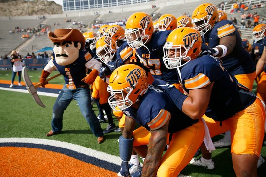 UTEP takes the field for the game against Charlotte Saturday, Nov. 9, at the Sun Bowl in El Paso.