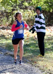 Phoebe Ward from Dobbs Ferry came in second place in the Section One Class C Cross Country Championship at Bowdoin Park in Wappingers Falls, Nov. 9, 2019.