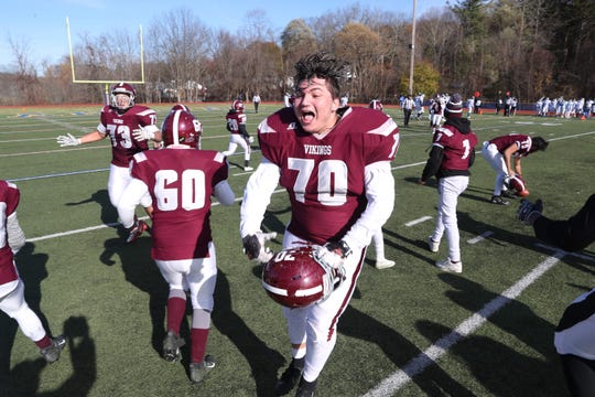Valhalla defeated Dobbs Ferry 21-7 in the Section 1 Class D championship at Mahopac High School Nov. 9, 2019.