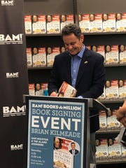 "Fans of ""Fox & Friends"" co-host Brian Kilmeade drew a steady stream of fans Saturday to the Books-A-Million in Wichita Falls, as the morning show presenter signed copies of his bestselling book, ""Sam Houston & the Alamo Avengers."""
