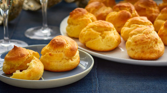Cheddar Blue Cheese Puffs