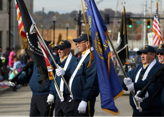 Brisk temperatures Saturday morning did not deter the hundreds of participants in Zanesville Veterans Day parade.