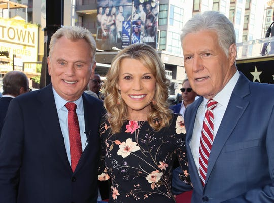 Pat Sajak, Vanna White and Alex Trebek attend Harry Friedman being honored with a Star on the Hollywood Walk of Fame on Nov. 01, 2019.