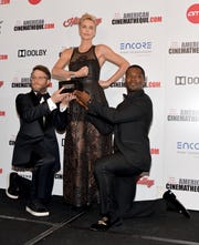 Seth Rogen, Charlize Theron and David Oyelowo goofed around backstage at the American Cinematheque Awards Friday night.