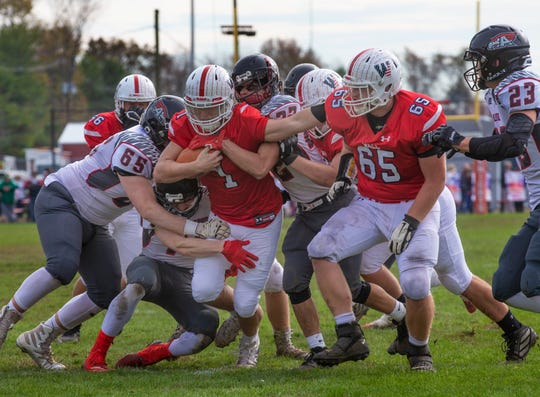 Wall High School football easily handles Allentown in first round NJSIAA playoffs in Wall NJ on November 10, 2019