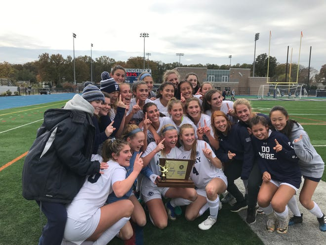 The Pingry girls soccer team won its second-straight NJSIAA Non-Public A title with a 6-0 victory over DePaul on Sunday, Nov. 10, 2019 at Kean University.