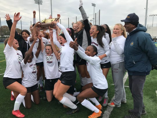 The Rutgers Prep girls soccer team won its first NJSIAA Non-Public B title in program history with a 2-0 victory over Saddle River Day on Sunday, Nov. 10, 2019 at Kean University.
