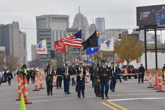 Detroit's Veterans Day Parade, in its 14th year, starts at the IBEW Local 58 union hall in Corktown and continues west on Michigan Avenue.