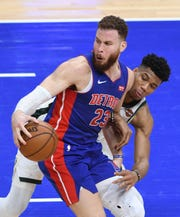 Pistons forward Blake Griffin says he'll make his regular-season debut Monday against the Timberwolves.