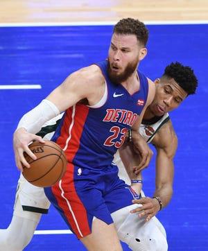 Pistons forward Blake Griffin says he'll make his regular-season debut Monday against the Timberwolves.