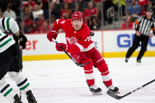 Red Wings forward Christoffer Ehn is without a point in 11 games this season.