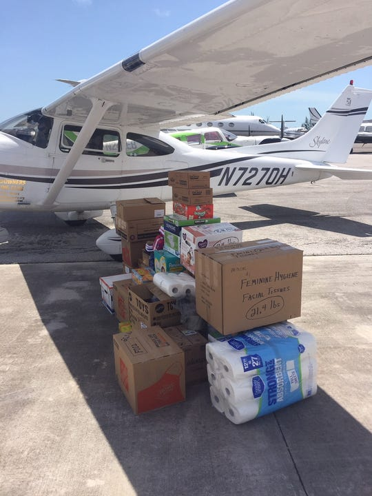 A usual load for a trip from Fort Myers to The Bahamas by the Sundowner Flying Club, as seen here is about 500-pounds.